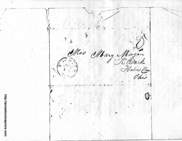 Letter with address