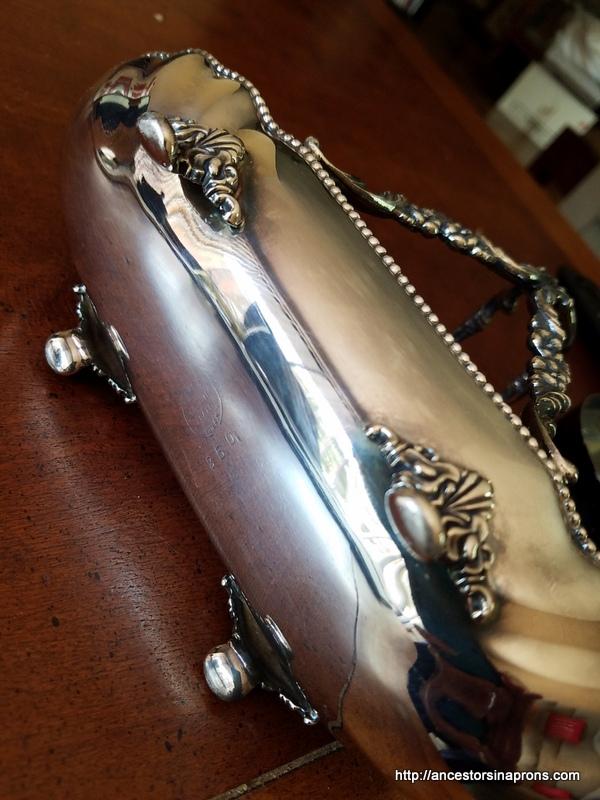 Silver Spoon Holder Maker's Mark