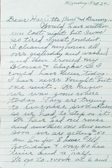 Vera Anderson letter Nov 1943