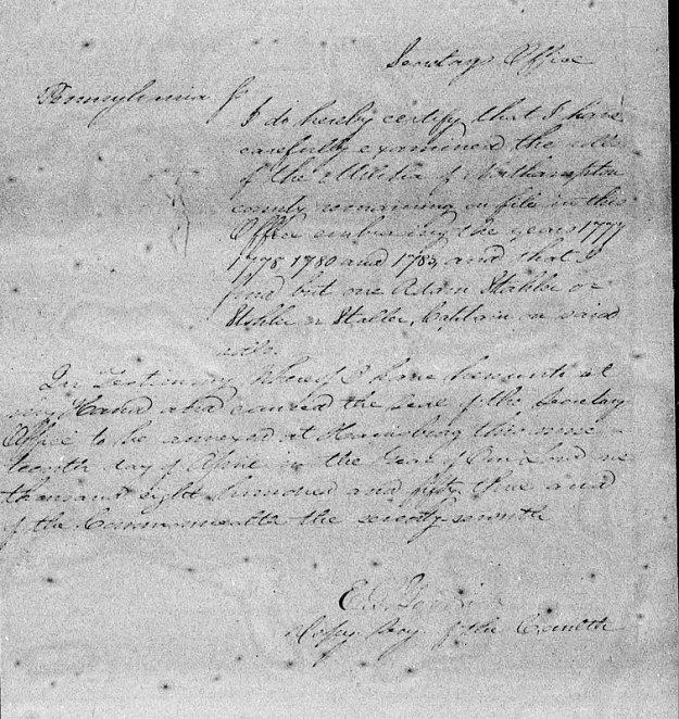 Letter of testimony