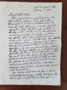 Paul Kaser letter 1945