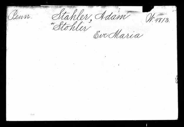 Stahler widow's pension