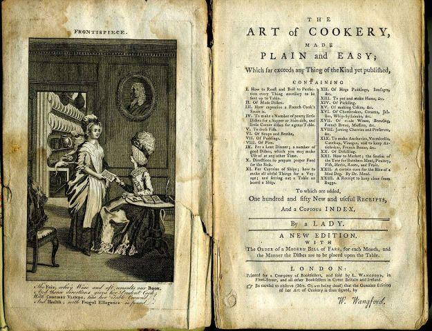 Hannah Glasse cookbook