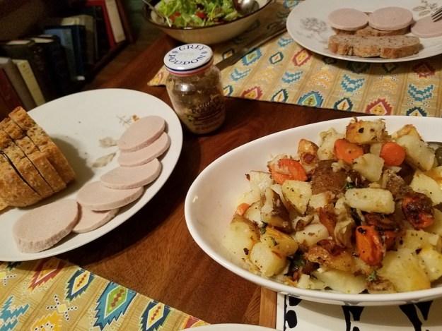 Gelbwurst for dinner