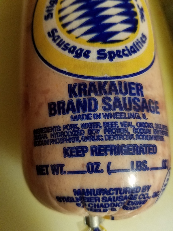 Krakauer sausage ingredients
