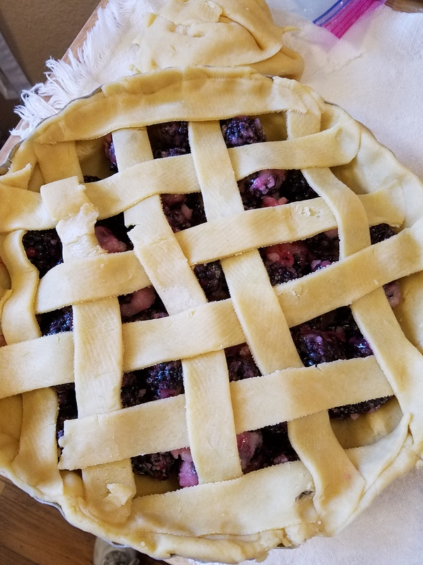 Lattice top on pie