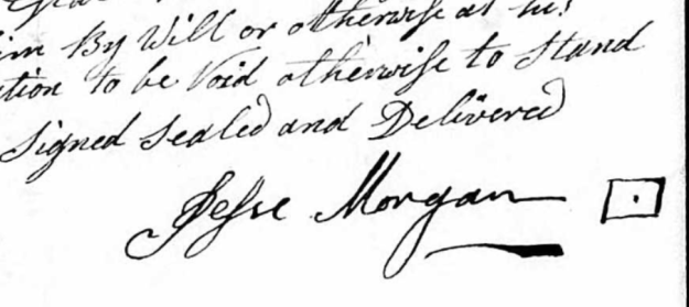 Jesse Morgan Sr. signature