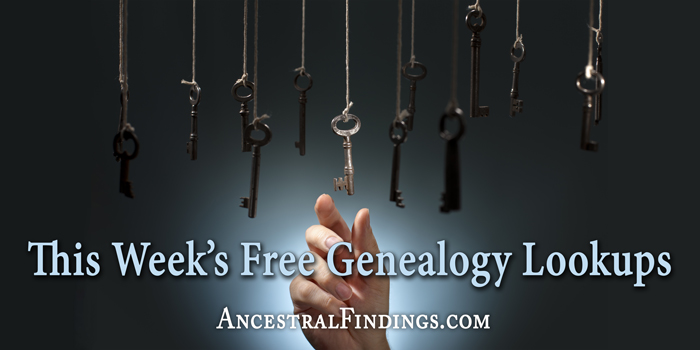 This Week's Free Genealogy Lookups (December 14)