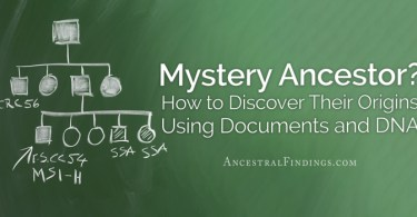 Mystery Ancestor? How to Discover Their Origins Using Documents and DNA