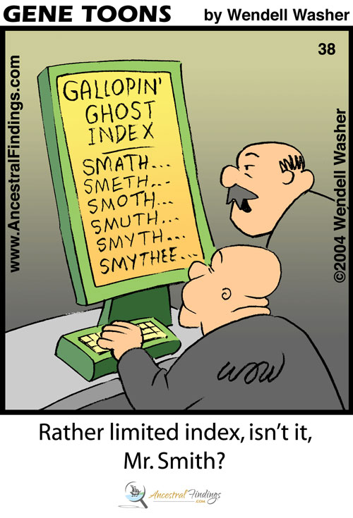 Rather Limited Index... Isn't It... Mr. Smith? (Genetoons #37)