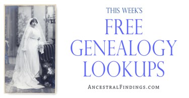 Free Genealogy Lookups