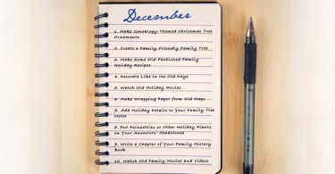 "10 ""Must-Do"" Genealogy Projects for December"