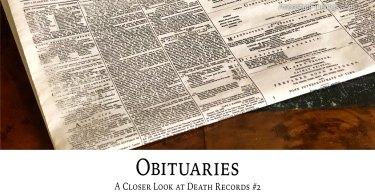 Obituaries: A Closer Look at Death Records #2