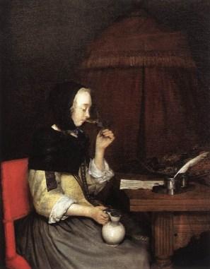 Mujer bebiendo vino