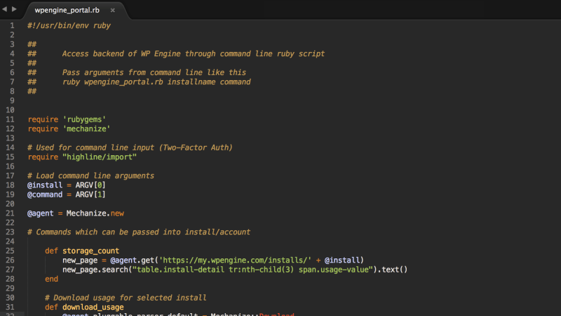 Automating WP Engine's user portal with Ruby script