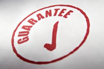 Guarantee stamp on paper,narrow depth of focus