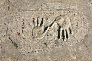 handprint walkway