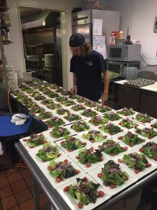 """Last minute """"fine tuning"""" on the salad course getting ready to be served!!!!"""