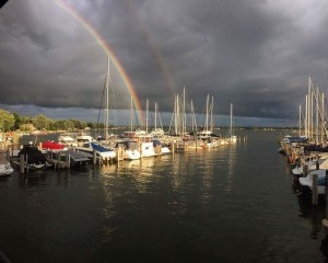 The storm this past weekend supplied the Marina with some excellent photo opps.  This was taken from AMYC deck.