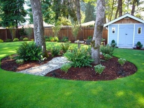 Clever & Beautiful Yard Island Landscaping for Backyard and Front yard 26