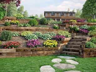 Clever & Beautiful Yard Island Landscaping for Backyard and Front yard 36