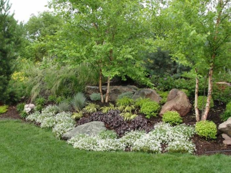 Clever & Beautiful Yard Island Landscaping for Backyard and Front yard 43