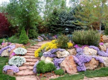 Clever & Beautiful Yard Island Landscaping for Backyard and Front yard 44