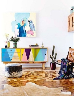Colorful Furniture Ideas to Makeover your Interior 54