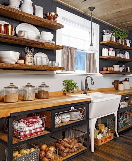 Cozy DIY for Rustic Kitchen Ideas 19
