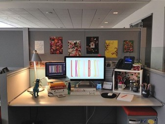 Cubicle Workspace Decorating Ideas 24