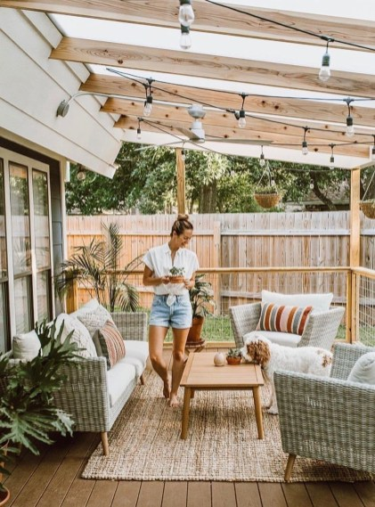 DIY Patio Deck Decoration Ideas on A Budget 43