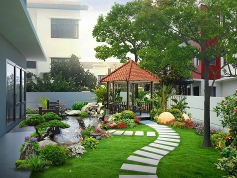 Examples Landscaping Ideas You can Put in House Page 17