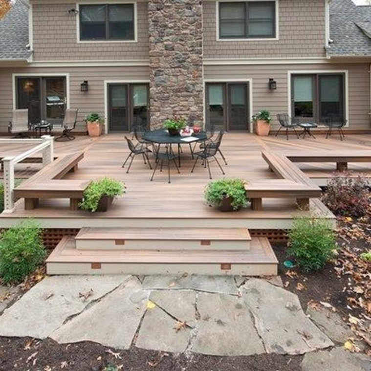 Awesome Backyard Patio Deck Design and Decor Ideas 19