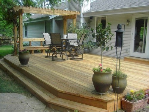 Awesome Backyard Patio Deck Design and Decor Ideas 21