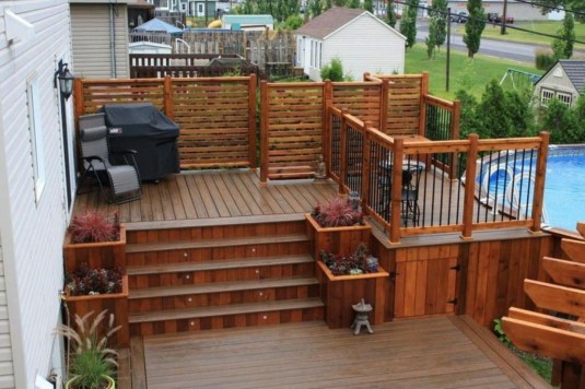 Awesome Backyard Patio Deck Design and Decor Ideas 48