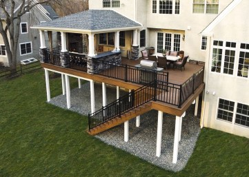 Awesome Backyard Patio Deck Design and Decor Ideas 54