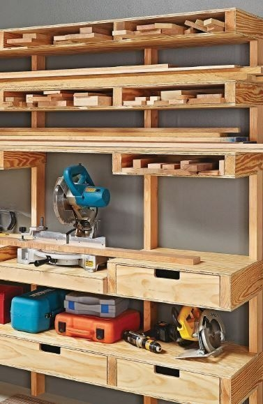Best DIY Garage Storage with Rack 16