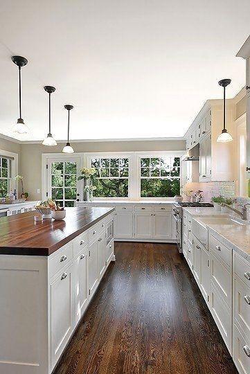 Classy Kitchen Floor Ideas with Hardwood 46