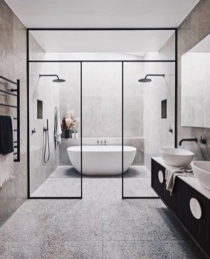 Cool Minimalist Bathroom to Add to Your Dream Home Decor 19