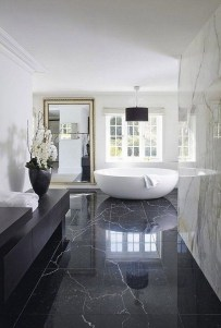 Cool Minimalist Bathroom to Add to Your Dream Home Decor 22