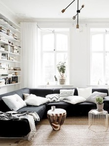 Cozy Scandinavian Living Room Designs Ideas 13