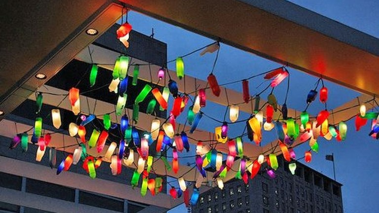 35 Recycled and Reuse Empty Plastic Bottles Into a String of Lights Ideas