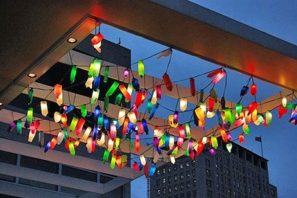 Recycled and Reuse Empty Plastic Bottles Into a String of Lights Ideas 03