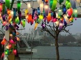 Recycled and Reuse Empty Plastic Bottles Into a String of Lights Ideas 13