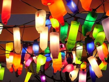 Recycled and Reuse Empty Plastic Bottles Into a String of Lights Ideas 16