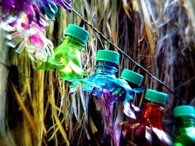 Recycled and Reuse Empty Plastic Bottles Into a String of Lights Ideas 28