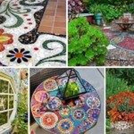 Beautiful DIY Mosaic Ideas To Beautify Your Garden 44