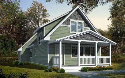 Comfortable Small Cottage House Plan Ideas 19