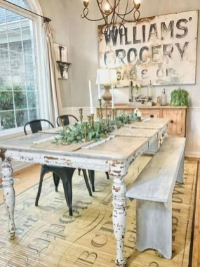 Cool Farmhouse Kitchen Decor Ideas On a Budget 17