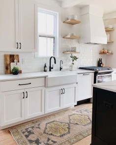 Cool Farmhouse Kitchen Decor Ideas On a Budget 41